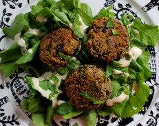 Amaranth Herb Fritters https://bigsislittledish.wordpress.com/2015/04/28/herb-and-amaranth-fritters/