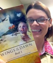 Enjoying book by friend Kristen Hogrefe.