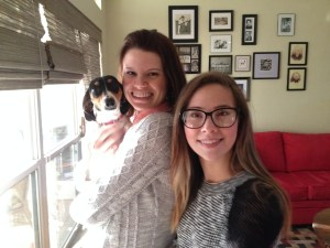 My little sister, Madeline, and her little dog Nora.