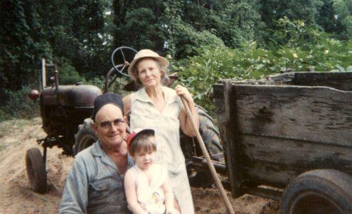 Robby with Pa and Grandma King