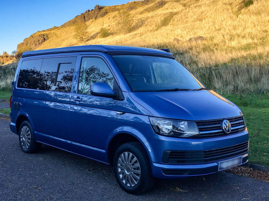 Betty VW Campervan hire Edinburgh