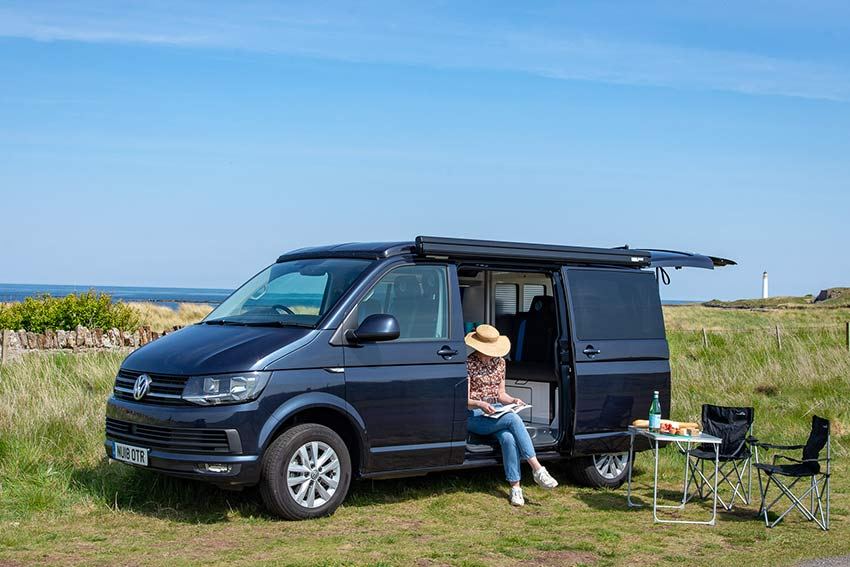 Take time to relax outdoors - VW transporter campervan