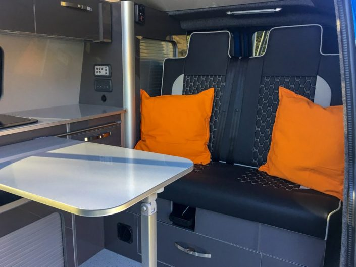 vw campervan kitchen area