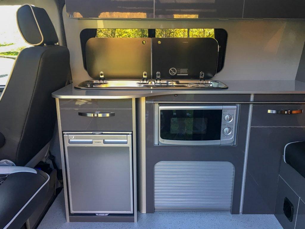 vw transporter campervan cooker and oven