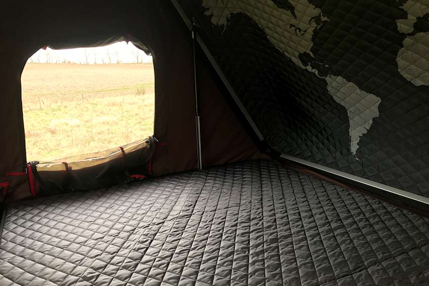 Campervan Hire Scotland Land Rover Camping Morven sleeping area