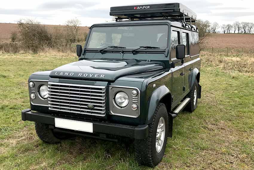Campervans for hire in Scotland Land Rover Camper Morven