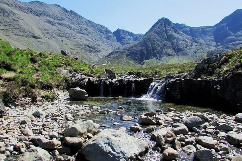 wild swimming scotland waterfall