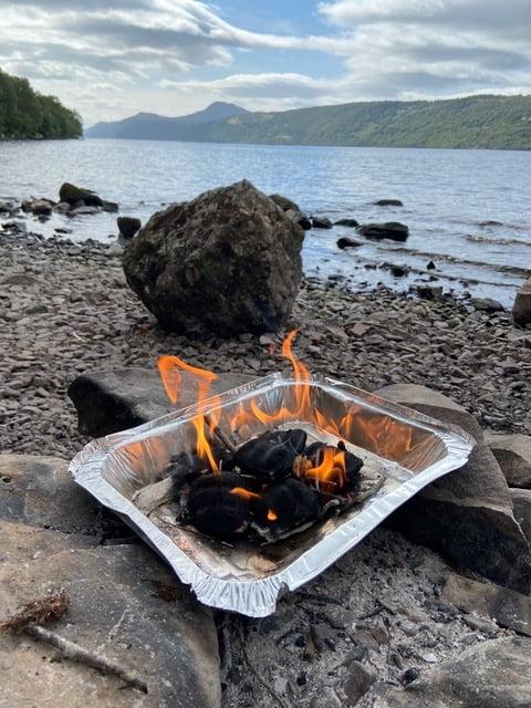 Outdoor adventures Scotland campfire