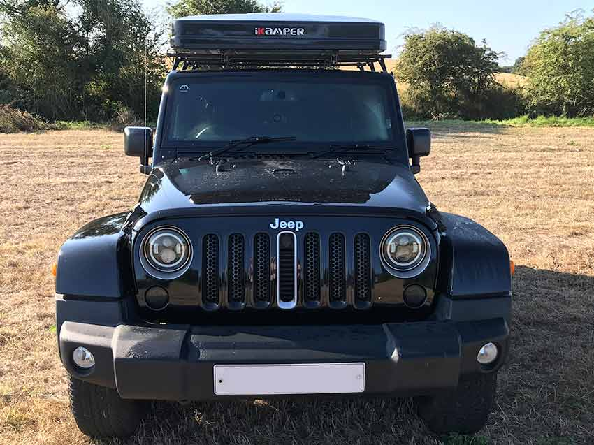 campervans for hire in Scotland Mac our Jeep Wrangler camper