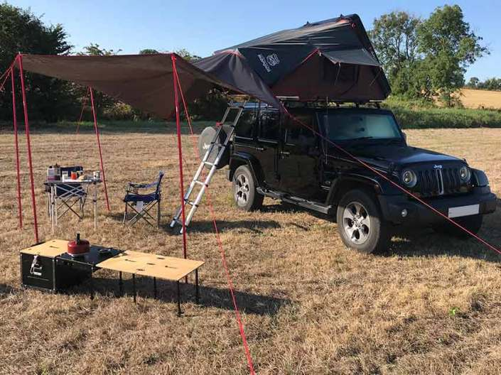 awning eith jeep roof top camper campervans for hire in scotland