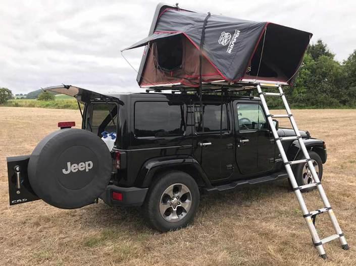 Jeep Wrangler campervans for hire in Scotland