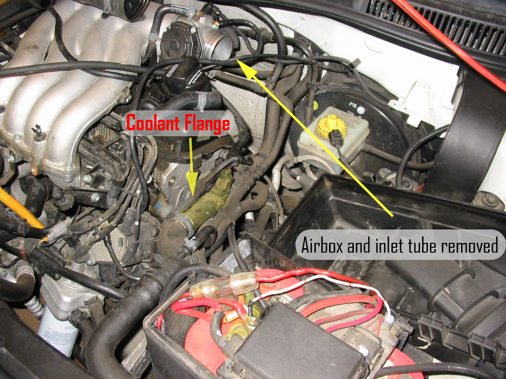 hight resolution of vwvortex com diy replacing driver side coolant flange on a mkiv jetta 8v