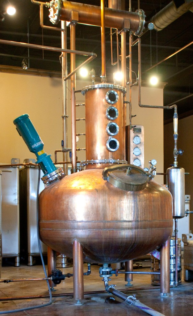 The copper distilling kettle ferments the perfect recipe.