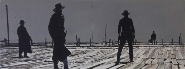 """Showdown - Three to One"" | Acrylic on Two Hardboard Panels | 24 x 48 inches"