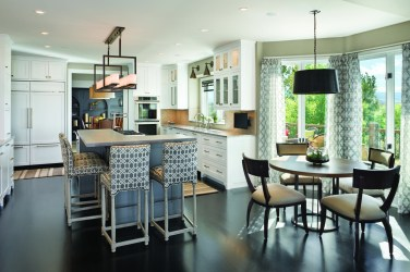 Merica and Zambon recommend mixing up styles, like in this kitchen, with some traditional and some modern touches.