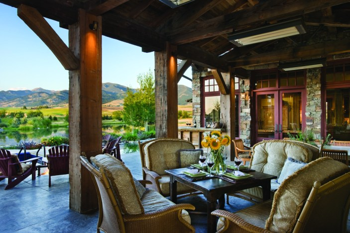Outdoor living, an essential component in a Montana home.