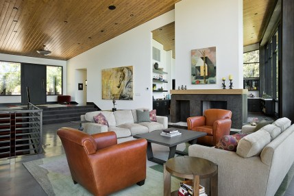 The homeowner did most of the footwork tracking down locally-made furniture and finding artwork in Jackson galleries, but a friend Karen Goldberg of Studio-G Designs in San Francisco, helped with certain choices to bring together the home's simple, clean design.