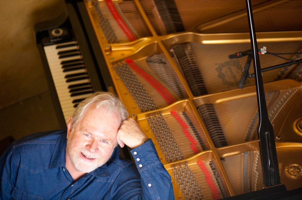 Philip Aaberg founder of Arts Without Boundaries at his piano. Photo courtesy of Arts Without Boundaries
