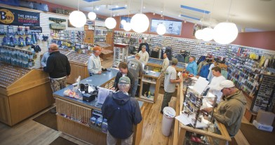 """Mornings at The Trout Shop are always busy. Abundant gear, food, supplies and the answer to """"What are they takin'?"""" are all available."""