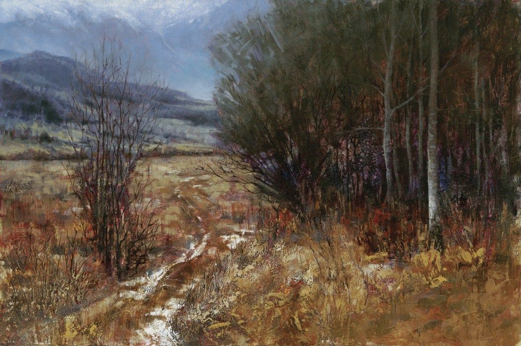 """""""Winter Trail"""" Oil on Canvas 