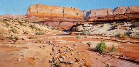 """""""Vermillion Kaleidoscope""""   Oil on Canvas   24"""" x 48"""""""