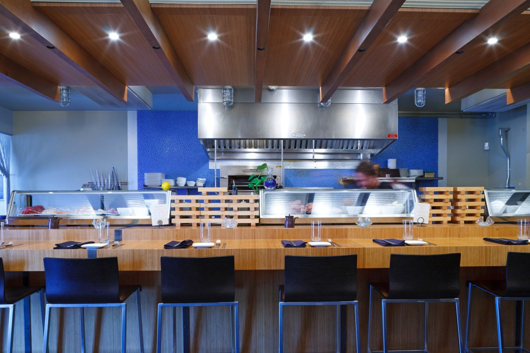 A recent (but minor) remodel (to go along with the restaurant's new name) replaced the sushi bar at The Kitchen with Jackson's first crudo bar.