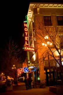 """At the corner of Montana Avenue and North 25th, the """"new"""" Carlin Hotel."""