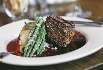 Serving classic continental cuisine in the restaurant, the Filet Mignon has been an offering on Chico's menu for more than 30 years. Photo courtesy of Chico Hot Springs