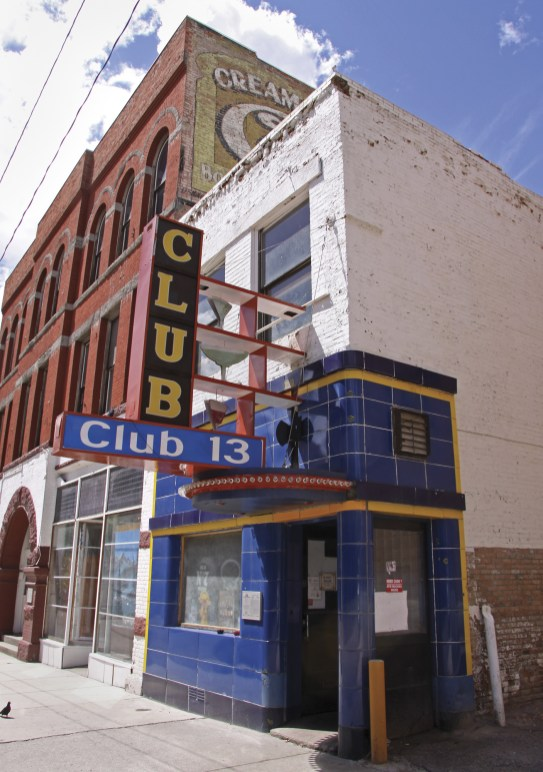 The iconic Club 13 on West Broadway harbors the defunct Alley Cat speak easy upstairs; its owner is in the process of restoring the artifacts that remain from its Prohibition-era heyday.