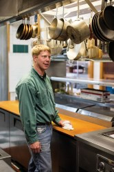 General manager Adam Long is always ready to accommodate guest needs or clean the kitchen if necessary, he's the one who keeps Brooks Lake Lodge running smoothly year-round.