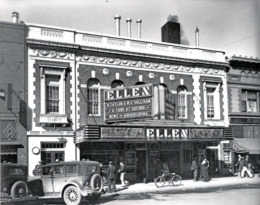 Ellen Theater, Bozeman, Mont. the Ellen Theater, circa 1938, a Bozeman Main Street icon, has a healthy schedule of live performances, much to the delight of residents and continues renovation when time and money allows. Photo courtesy Pioneer Museum