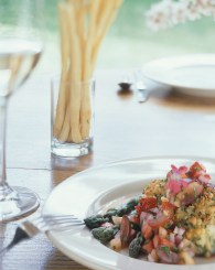 Chico's Pine Nut Crusted Halibut. Photo courtesy of Chico Hot Springs