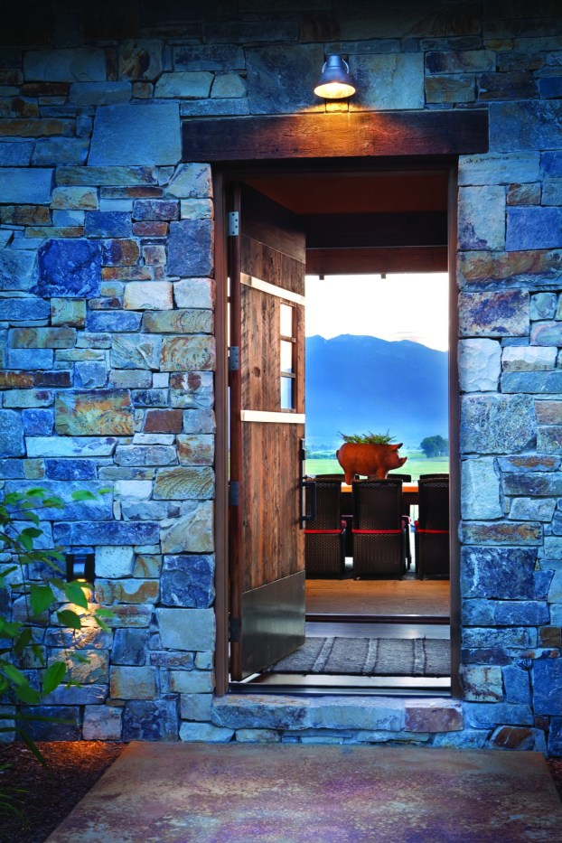 The humble front entry opens to a dazzling view.