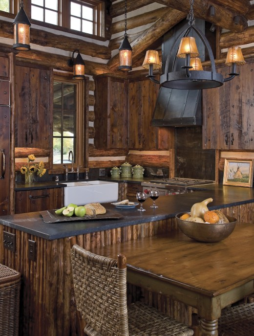 Proving that small spaces don't need to be limiting, Miller Architects designed a cook's kitchen with Wolf appliances, granite countertops and plenty of storage.