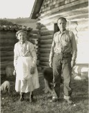 Lillian Hackett Hanson Culver, age 84, with her only son, Fred I. Hanson, at her home at Picnic Springs, 1934. Photo courtesy Terry and Gayle Hanson