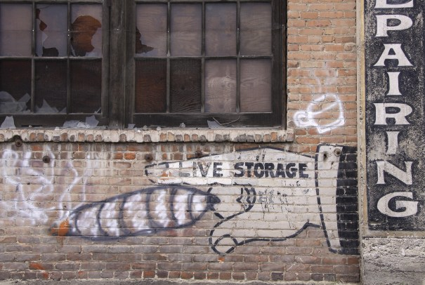 Graffiti, ghost signs and industrial architecture define alleys both for their secretive quality and as markers of the inner life, past and present of a Western town with a fascinating history.