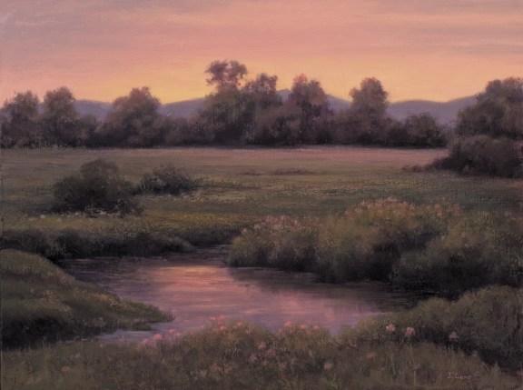 """Sundown - East Gallatin"" | Oil | 16 x 20 inches"