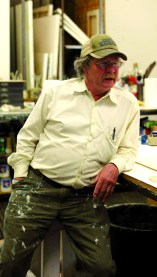 The artist, Ted Waddell, in his Hailey, ID, studio.