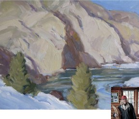 """""""Yellowstone River""""   Oil on Canvas   8"""" x 10""""   By Kathy Wipfler"""
