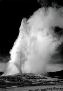Old Faithful Geyser erupting.