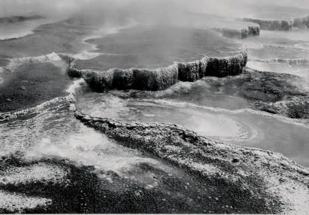 Aerial view of Jupiter Terrace — Fountain Geyser Pool.