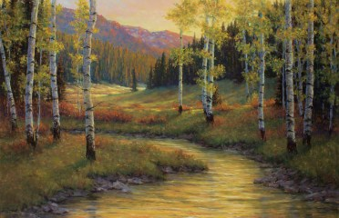 """Autumn's Colors in the Beartooths Pastel 
