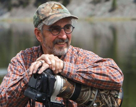 Artist Greg Beecham in the field. Photo by Mark Quigley