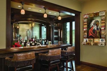The mahogany bar built by Nick Kosorok, was fashioned after turn-of-the-century Brunswick bars.