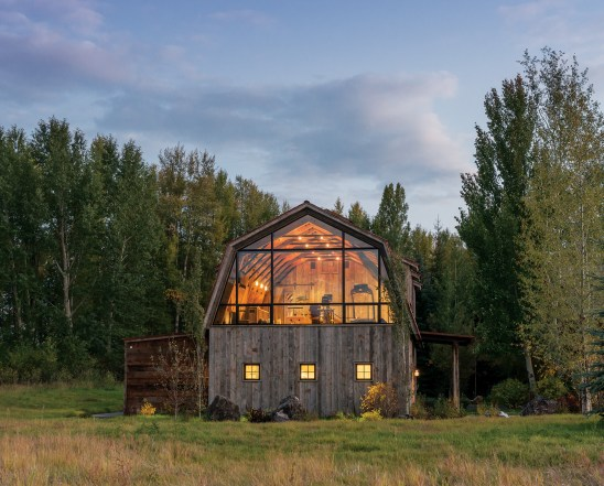 "MRL owner Mike Halverson said, ""The material has gone into a number of projects over the last couple of years, but one in particular really stands out."" The residential barn structure was designed by Carney Logan Burke Architects and built by Benchmark Builders."