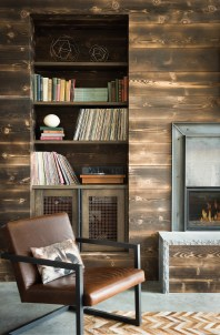 """The walls, made from """"shou sugi ban"""" (or burnt cedar siding), give the inside of the home a connection to the outdoors."""