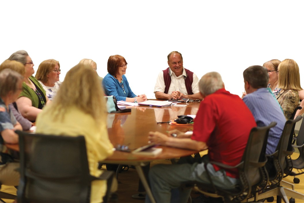Corby Skinner during a monthly meeting of the High Plains Book Awards committee at the Billings Public Library. The Book Awards, celebrating their 10-year anniversary, are a part of the High Plains BookFest in Billings. This year, the BookFest runs from October 6 to 9, 2016.