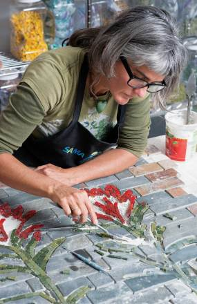 Anderson creates most of her pieces in her Bozeman studio.