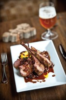 The flavor of an amber ale is Chef Durgan's preferred balance for his hearty, wildboar entree.