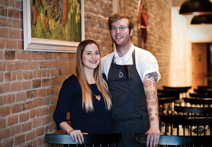 Chef-owners Kierst and Davey Rabinowitz met at culinary school and launched Bisl on Main Street in Bozeman's historic downtown.